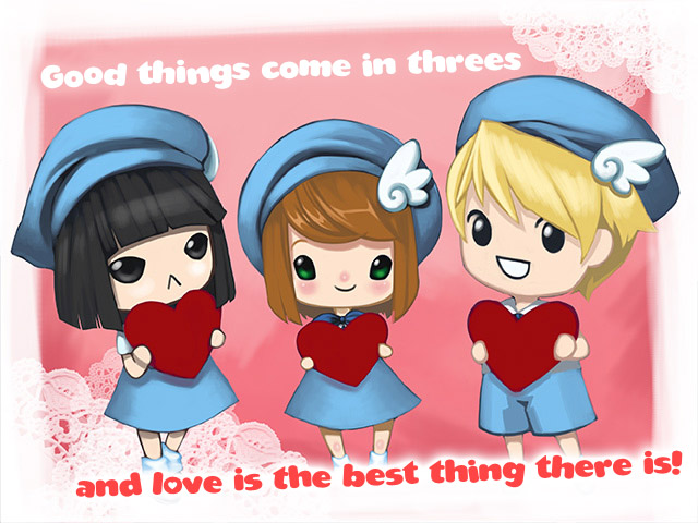 polyamorous valentines day card on gaia online rebrn com